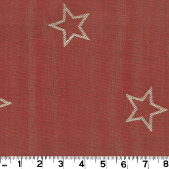 All Star CL Red Drapery Upholstery Fabric by Roth & Tompkins