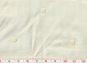 Lucerne CL Cream Drapery Fabric by Clarence House