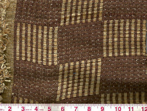 Gambia CL Brown Upholstery Fabric by Clarence House