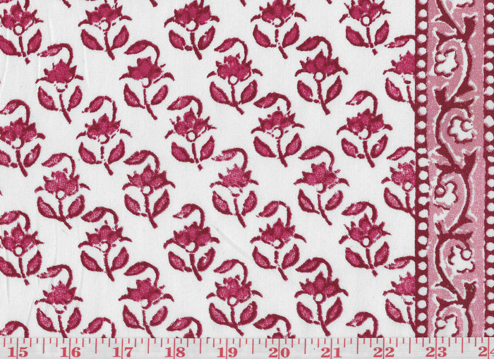 Lou Lou CL Scarlet Drapery Fabric by Hill Brown