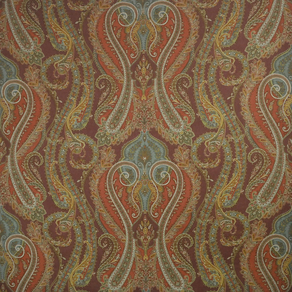 Fantine Paisley CL Red Clay Drapery Upholstery Fabric by Clarence House