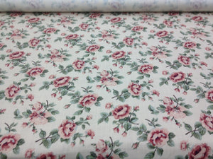 Rothschild Rose CL Cream Drapery Upholstery Fabric by Clarence House
