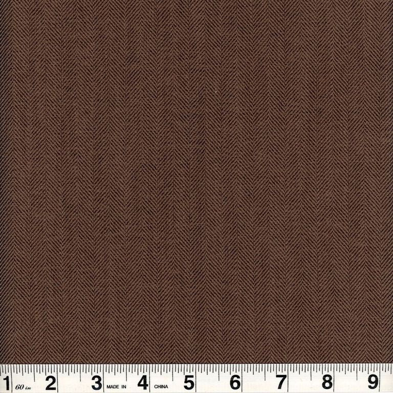 Alexander CL Mocha Drapery Upholstery Fabric by Roth & Tompkins