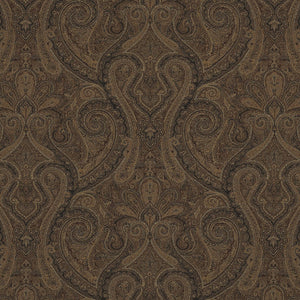 Assyrian Paisley CL Cordovan Drapery Upholstery Fabric by Ralph Lauren