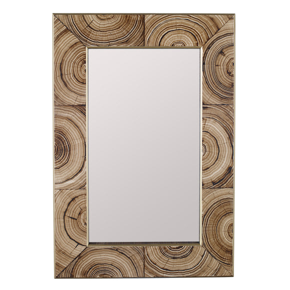 Madeline Mirror CL Light Brown by Curated Kravet