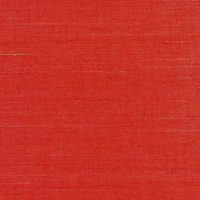 Marin Weave CL Bright Red Single Roll of Wallpaper by Ralph Lauren