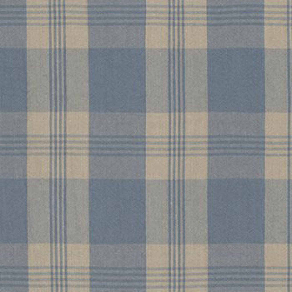 Mill Pond Check CL Chambray Linen Upholstery Fabric by Ralph Lauren