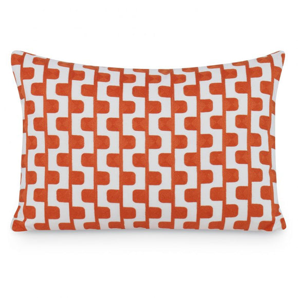 Stairstep Pillow CL OrangeWhite by Curated Kravet