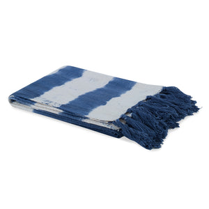 Sunset Cotton Throw  CL Navy by Curated Kravet