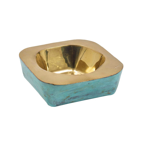 Audra Bowl CL Green Brass by Curated Kravet