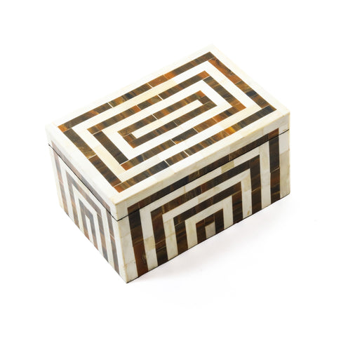 Harvey Box CL IvoryBrown  by Curated Kravet