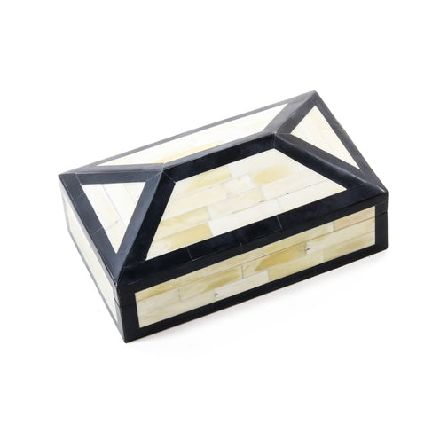 Irene  Box CL Ivory Black by Curated Kravet