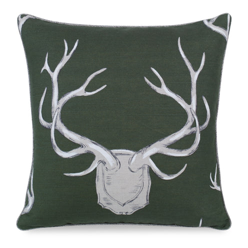 Antlers Pillow CL Hunter by Curated Kravet