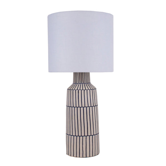 Evelyne Table Lamp CL Blue White by Curated Kravet