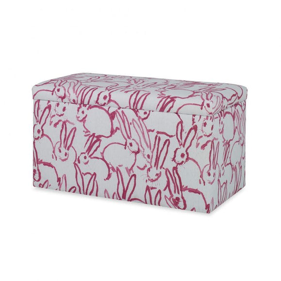 Carrington Storage Bench CL Pink by Curated Kravet