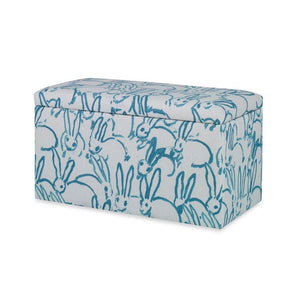 Carrington Storage Bench CL Turquoise by Curated Kravet