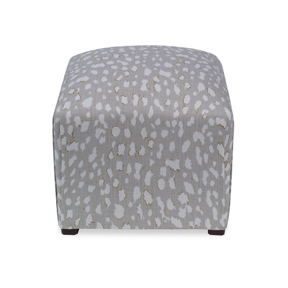 Siobhan Ottoman, Lynx Dot CL Oyster by Curated Kravet