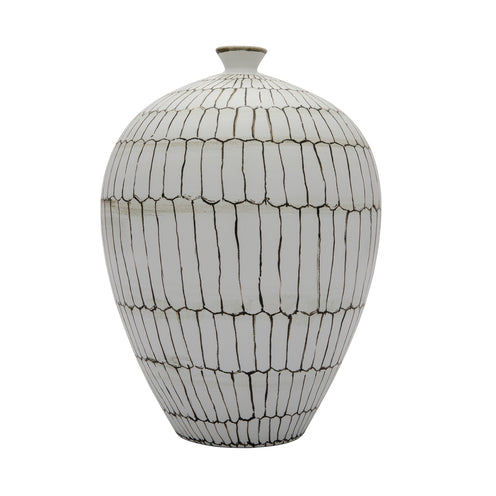 Witmer Vase CL White  by Curated Kravet