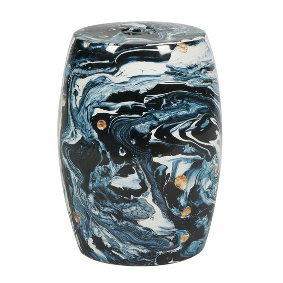 Nitin Stool CL Black Multi by Curated Kravet