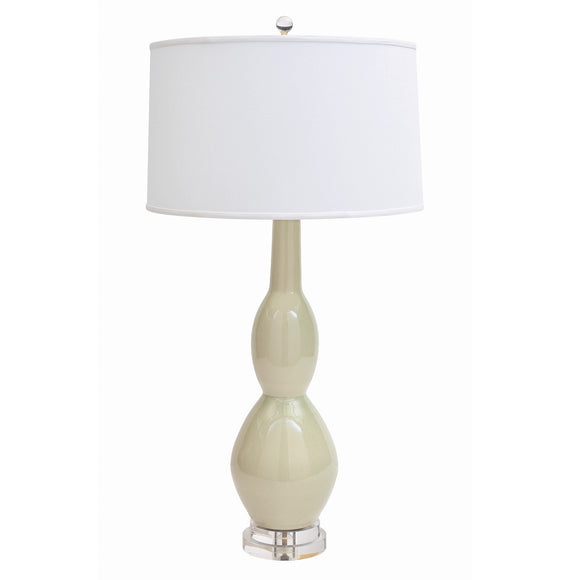 Marilyn Table Lamp CL Sage Crackle by Curated Kravet