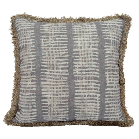 New Lines Pillow CL Slate by Curated Kravet
