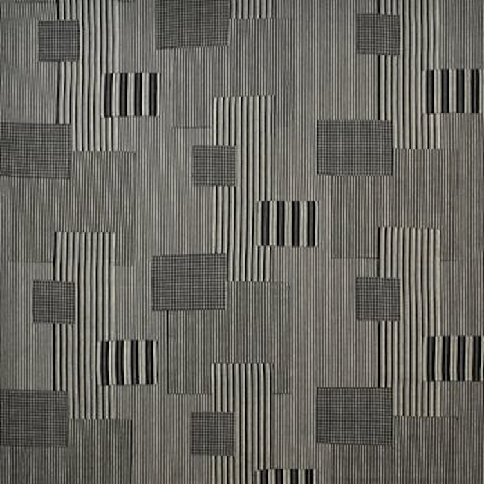 Rivington Patchwork CL Vintage Black Upholstery Fabric by Ralph Lauren