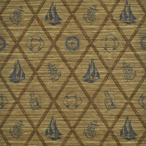S.S. Hessie CL Sepia Double Roll of Wallpaper by Ralph Lauren