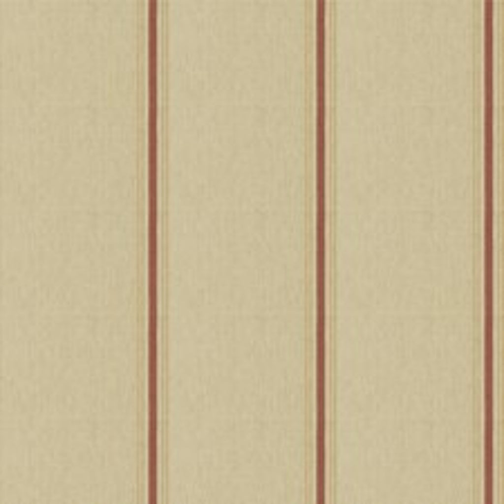 Stamford Stripe CL Dusty Red Drapery Upholstery Fabric by Ralph Lauren