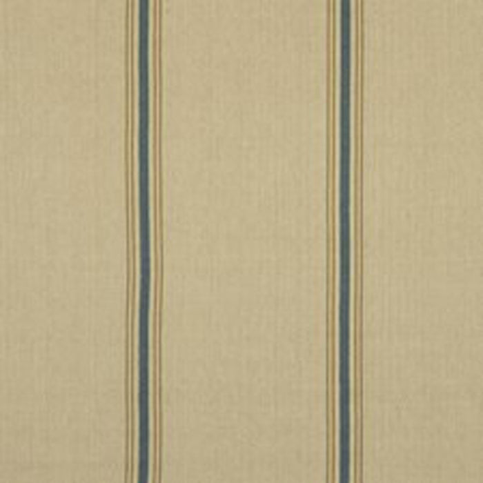 Stamford Stripe CL Prairie Blue Drapery Upholstery Fabric by Ralph Lauren