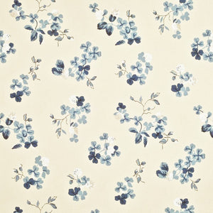 Trefoil Floral CL Slate Double Roll of Wallpaper by Ralph Lauren