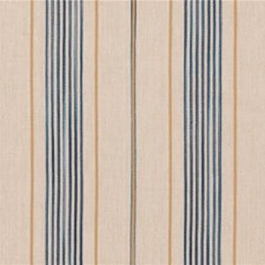 Trouville Ticking CL Denim Drapery Upholstery Fabric by Ralph Lauren
