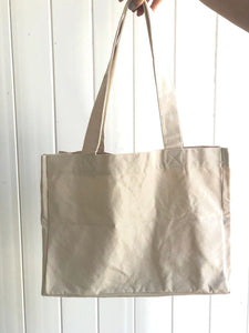 Cotton Cavas Shopping Tote w/ 6 Internal Pockets