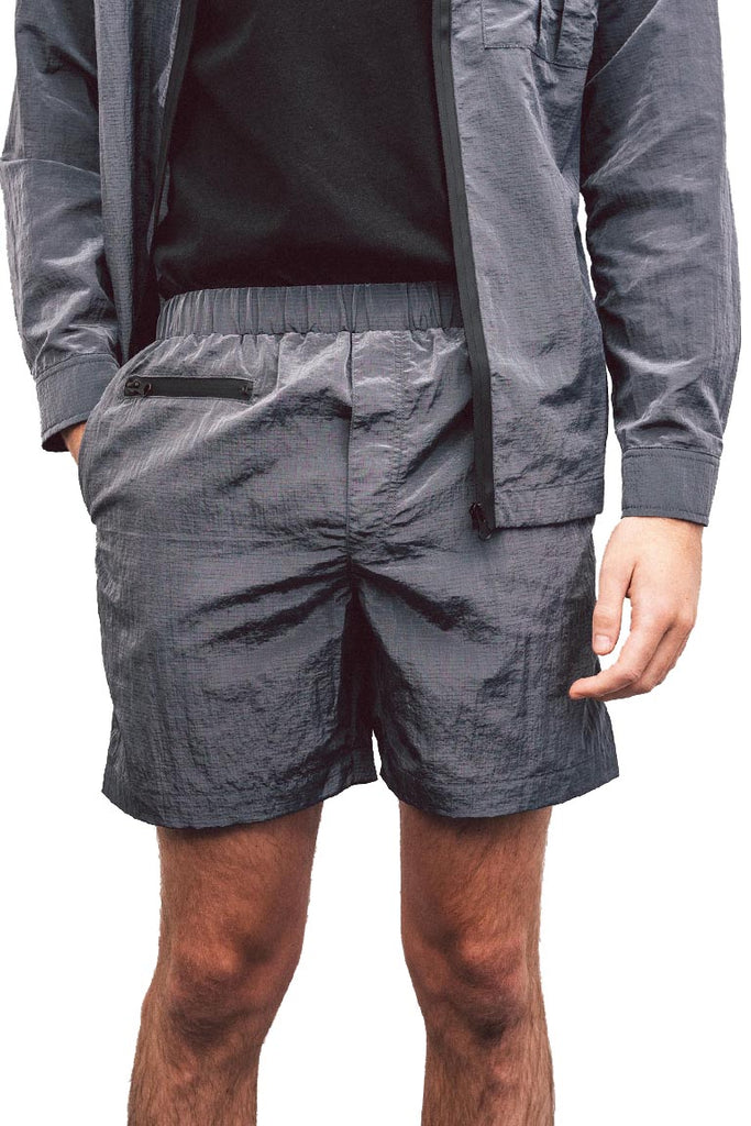 Navy Ripstop Nylon Tech-Short