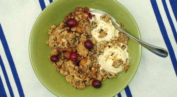 Ginger-Kelp and Cranberry-Apple Crisp Recipe