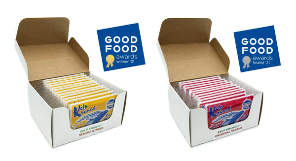 Kelp Krunch Sesame Ginger™ has won the 2021 Good Food Award! What a way to start our 50th year in business!