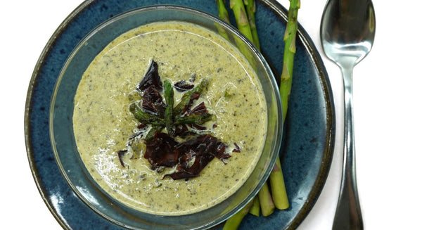 Smoked Dulse Asparagus Soup Recipe