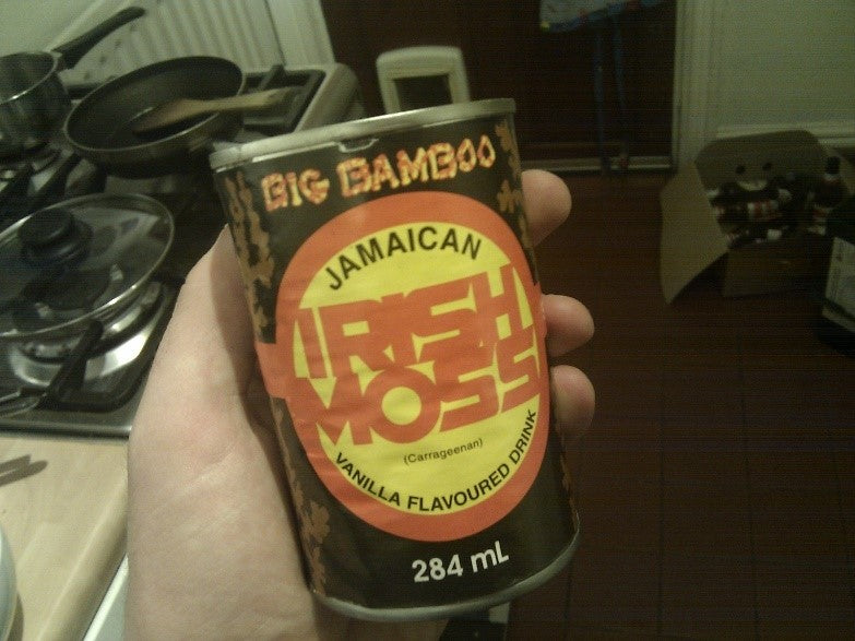 Irish moss drink in a can