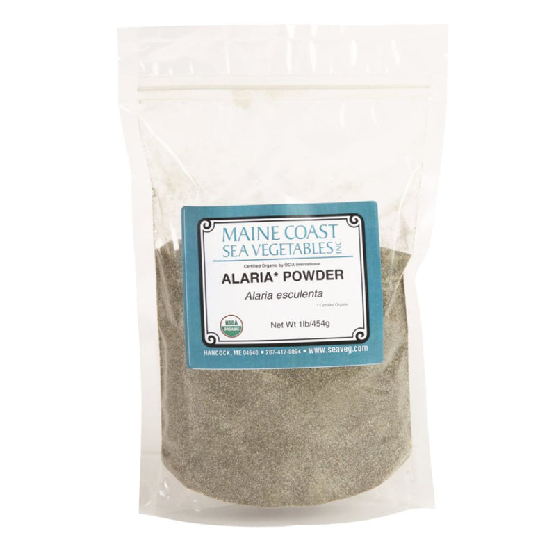 "Alaria Powder - ""Wild Atlantic Wakame"" - Organic. 1 LB - Maine Coast Sea Vegetables"
