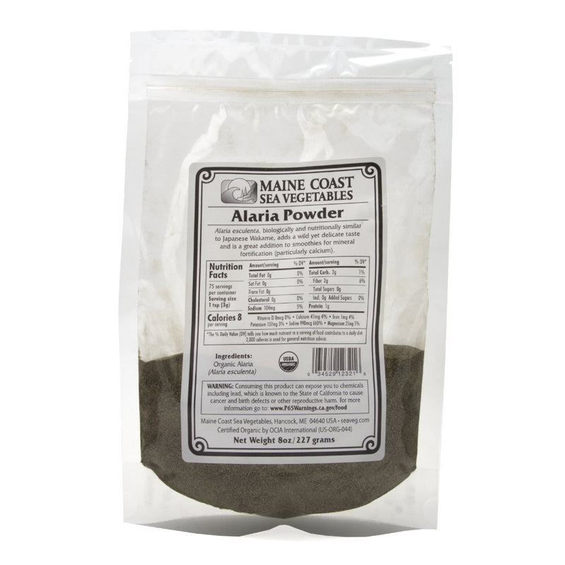 "Alaria Powder - ""Wild Atlantic Wakame"" - Organic. 8 OZ - Maine Coast Sea Vegetables"