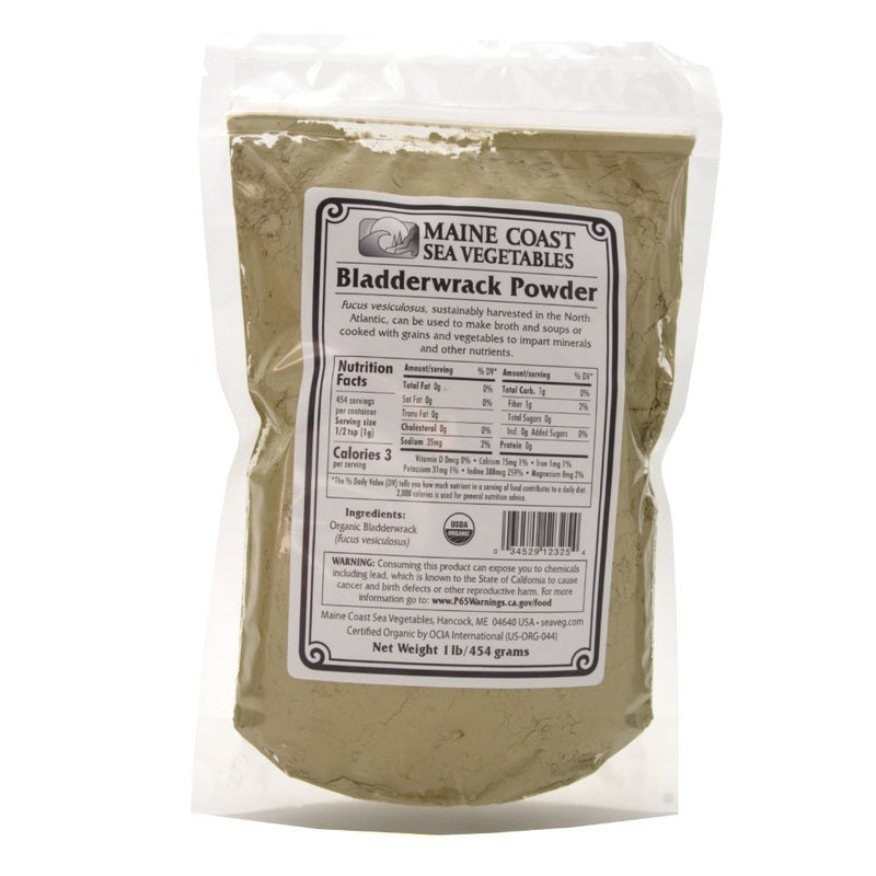 Bladderwrack Powder - Wild Atlantic - Organic 1 LB - Maine Coast Sea Vegetables