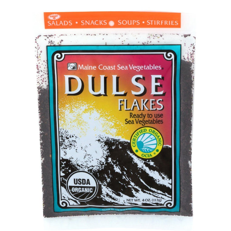 Dulse Flakes 4 oz Bag - Wild Atlantic - Organic Default Title - Maine Coast Sea Vegetables