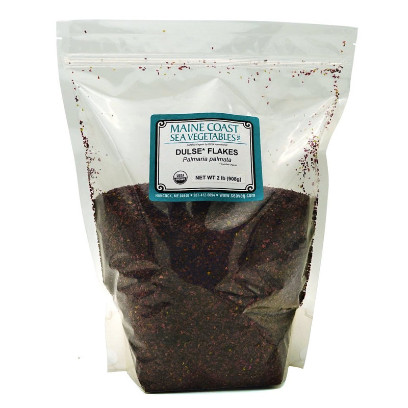 Dulse Flakes - Wild Atlantic - Organic 2 LBS - Maine Coast Sea Vegetables