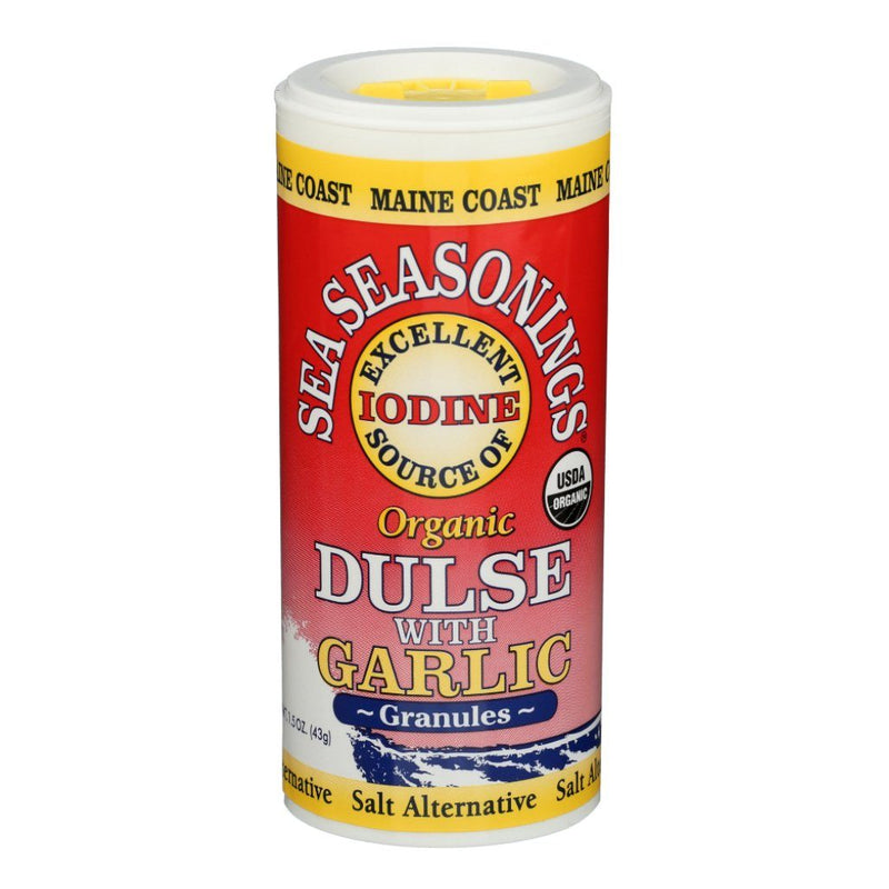 Dulse Granules with Garlic - Wild Atlantic - Sea Seasoning Shaker - Organic Default Title - Maine Coast Sea Vegetables