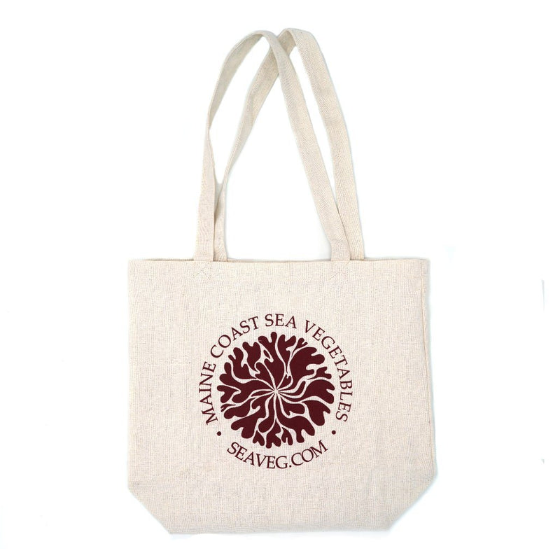 Dulse Mandala Tote-Recycled Organic Natural - Maine Coast Sea Vegetables