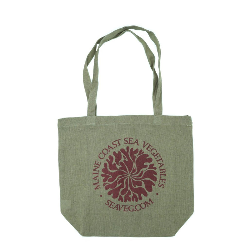 Dulse Mandala Tote-Recycled Organic Olive - Maine Coast Sea Vegetables