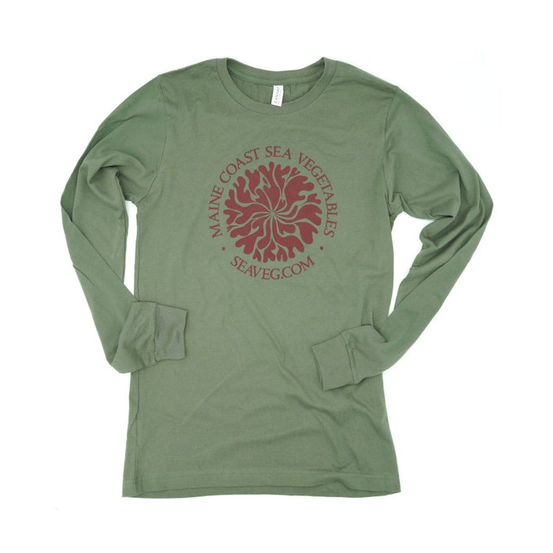 Dulse Mandala Unisex Long-Sleeve Shirt S - Maine Coast Sea Vegetables