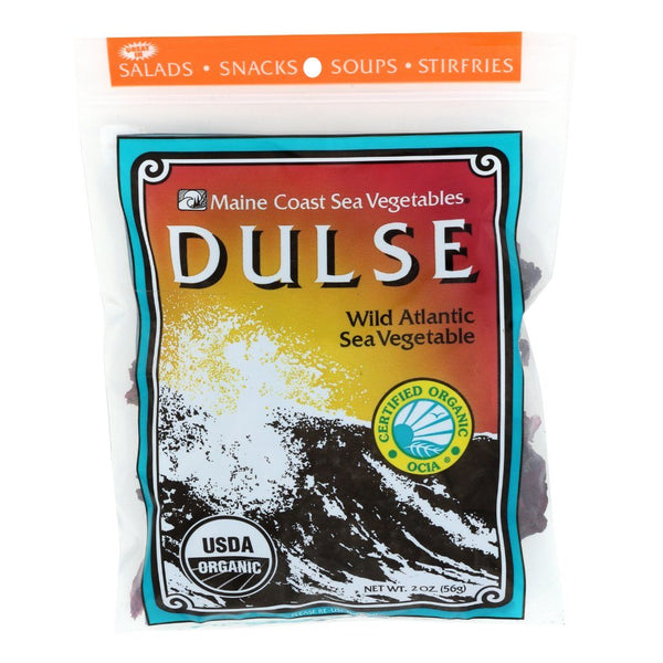 Dulse Whole Leaf 2 oz Bag - Wild Atlantic - Organic Default Title - Maine Coast Sea Vegetables