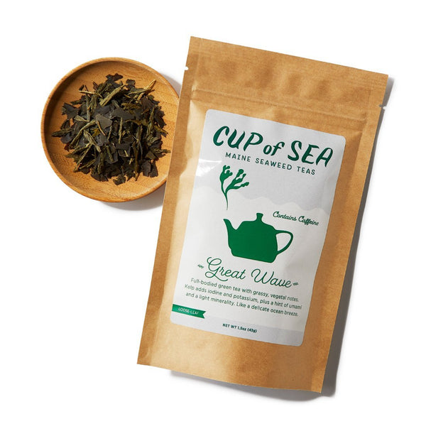 Great Wave Seaweed Tea with Sugar Kelp 1.5 oz Bag - Cup of Sea - Cup of Sea