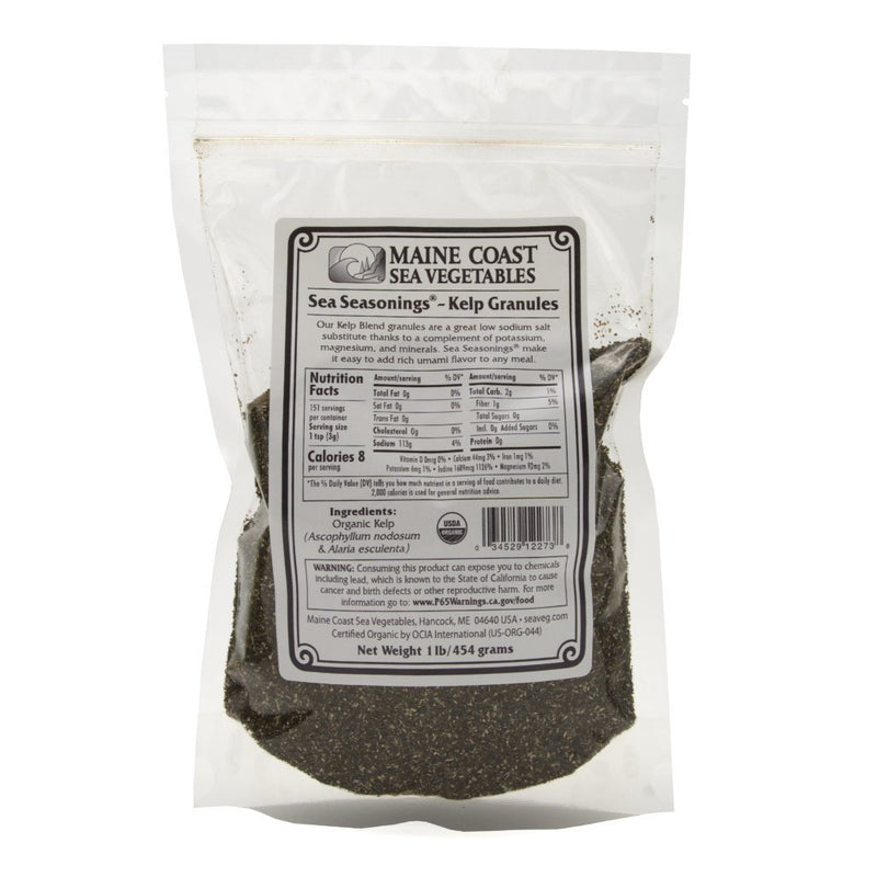 Kelp Granules Blend - Sea Seasonings Bulk - Organic 1 LB - Maine Coast Sea Vegetables