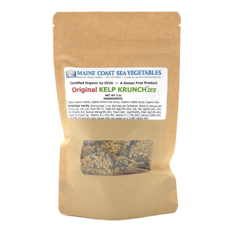 Kelp Krunch™ Original Sesame - Organic Krunchies - Maine Coast Sea Vegetables